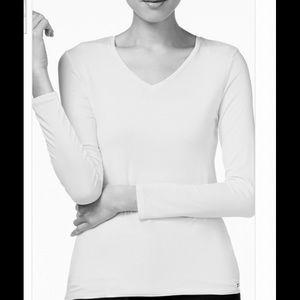 Calvin Klein V-neck T Shirt Liquid Jersey Large